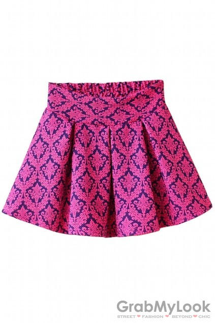 apparel skirt retro enthic pattern pleated a line