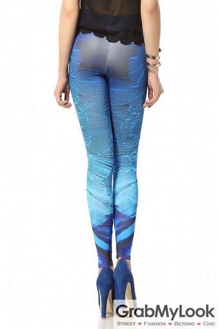Sea Ocean Splash Gradual Yoga Pants Tights Leggings