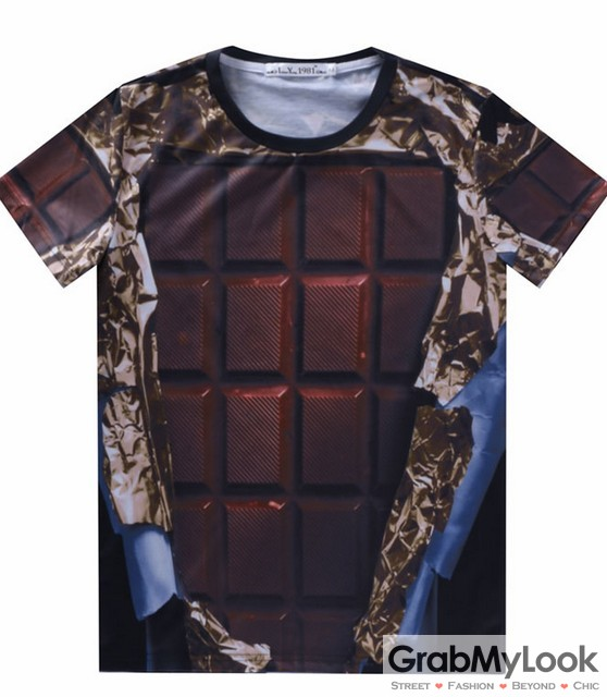 Brown chocolate bar mens short sleeves t shirt for Mens chocolate brown shirt