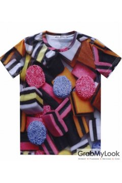 Colorful Candies Pattern Men Short Sleeves T Shirt