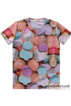 Colorful Candies Mens Short Sleeves T Shirt