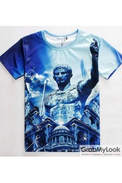 Great Caesar Roman Empire 3D Short Sleeves Mens T Shirt Summer