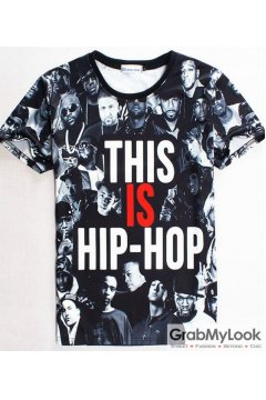 This is Hip Hop Funky Punk Rock Mens Short Sleeves T-Shirt Summer Beach Wear