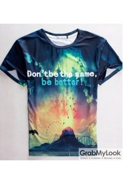 Volcano Dont be the same be better Mens T-Shirt Summer Beach Wear
