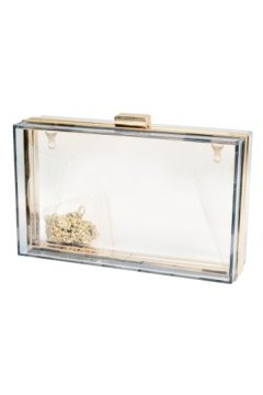Transparent Acrylic Rectangular Evening Clutch Purse Jewelry Box