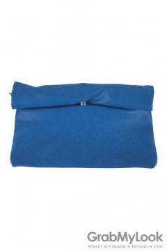Roll Brim Rectangular Evening Oversized Envelope Clutch Purse