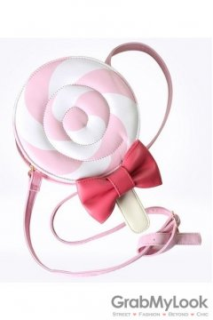 Cute Pink Lolipop Bow Evening Clutch Purse