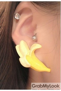 Yellow Bananas Earrings Ear Rings Pins