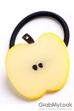 Slice Apple Fruit Rubber Hair Band