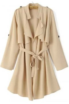 Brown Beige Black Grey Military Army Long Sleeves Jacket Blazer Trench Coat