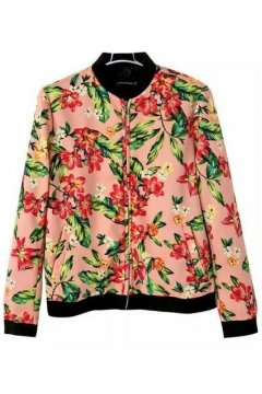 Pink Oil Painting Flowers Floral Baseball Bomber Rider Jacket