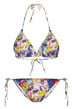 GrabMyLook Colorful Cartoons Anime Two Piece Sexy Bikini Swimwear