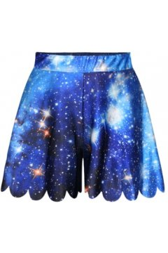GrabMyLook Dark Blue Night Stars Galaxy Universe Skirt Shorts Hot Pants