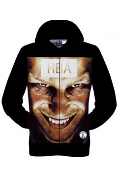 Black HBA Hood Face Long Sleeves Mens Jacket Hooded Hoodies