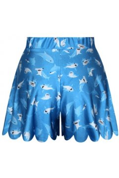 GrabMyLook Blue Ocean Sharks Skirt Shorts Hot Pants