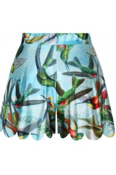 GrabMyLook Blue Sky Colorful Birds Skirt Shorts Hot Pants