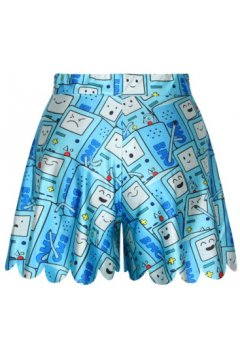 GrabMyLook Blue Cartoon Droid Phone Skirt Shorts Hot Pants