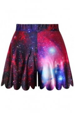 GrabMyLook Purple Blue Galaxy Universe Skirt Shorts Hot Pants
