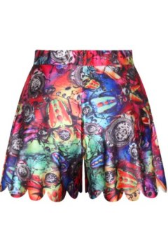 GrabMyLook Vintage Abstract Painting Skirt Shorts Hot Pants