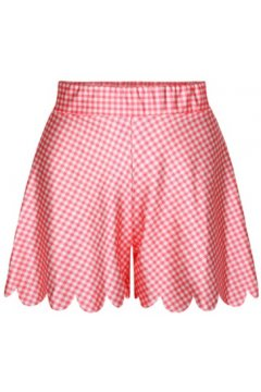 GrabMyLook Pink White Stripes Skirt Shorts Hot Pants