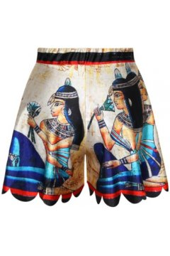 GrabMyLook Beige Pharaohs Egypt Queen Skirt Shorts Hot Pants