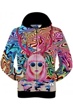 Pink Lady Hippies Funky Long Sleeves Mens Jacket Hooded Hoodies