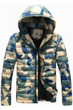 ​Camouflage Army Military Pattern Removable Hooded Hoodie Bomber Aviator Rider Jacket