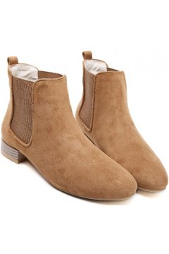 Suede Brown Old School Vintage Wooden Heels Ankle Boots Women Shoes