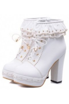 Lace Ankle Lace Up Platforms Ankle Gothic Harajuku Punk Rock High Heels Boo