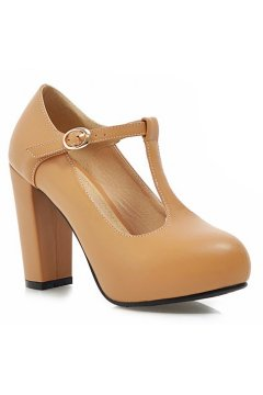 ​Beige Brown Khaki Old School Vintage T Strap Platform Heels Mary Jane Shoes