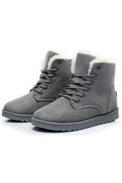 ​​Suede Brown Woolen Furry Lace Up Sneakers Winter Snow Boots