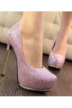 ​Sparkle Diamante Glitter Stiletto High Heels Platforms Shoes