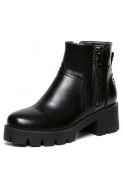 ​Black Punk Rock Chunky Sole Heels Gothic Ankle Chelsea Boots