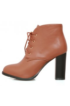 Brown Black Pink Ankle Lace Up Point Head Cuban Heels Oxfords Boots Booties Women Shoes