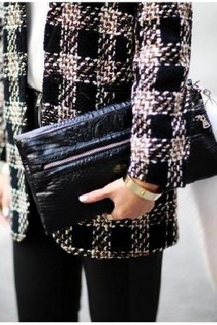 Bags :: Clutches :: Crocodie Skin Black Rectangular Punk Rock ...