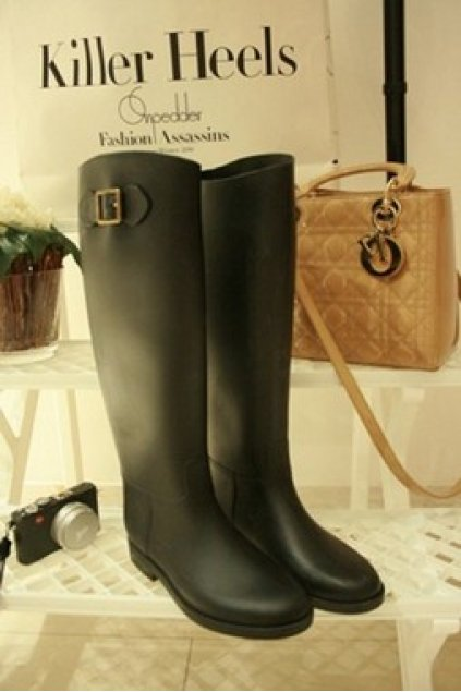 Shoes :: Rain Boots / Wellies :: Black Brown Classic Knee Length ...