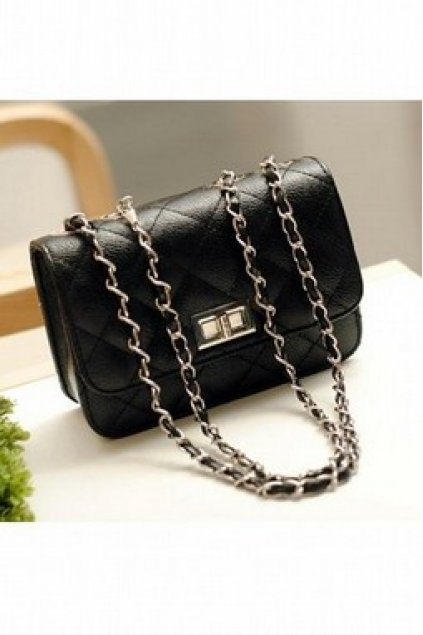 Bags :: Shoulder Bags :: Quilted Faux Leather Metal Chain Caviar ... : quilted faux leather tote - Adamdwight.com
