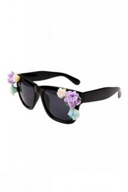 bb581bee5a Accessories    Glasses    Colorful Semi Flowers Retro Vintage Baroque  Butterfly Black Frame Sunglasses Eyewear