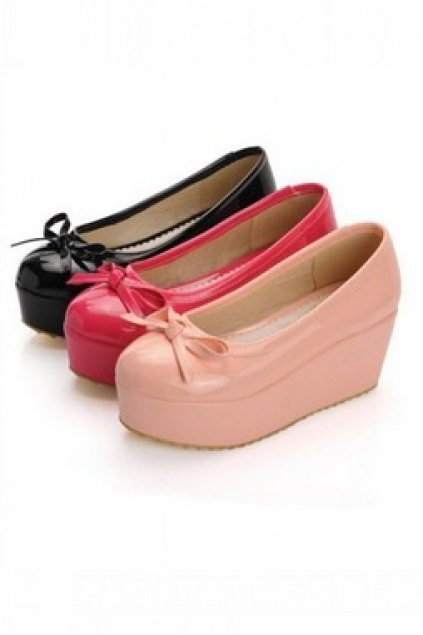 shoes platforms patent glossy leather color