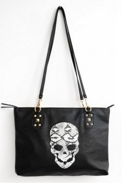 Bags :: Shoulder Bags :: Giant Skull Black Long Strap Punk Rock ...