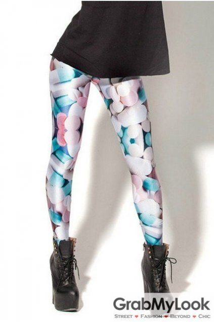 Colorful Candy Jelly Beans Skinny Long Yoga Pants Tights Leggings