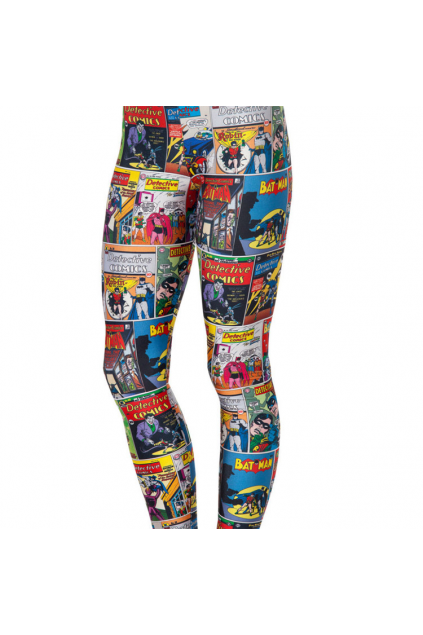 Colorful Comic Cartoon Magazine Skinny Long Yoga Pants Tights Leggings
