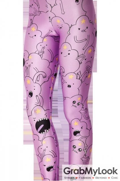 Purple Cartoon Monster Yoga Pants Tights Leggings