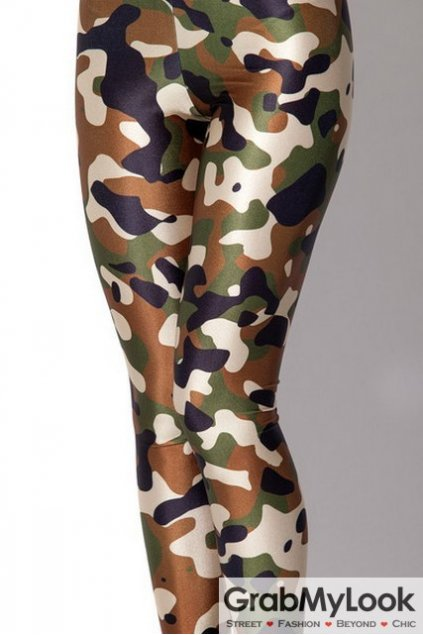 Green Camouflage Army Pattern Yoga Pants Tights Leggings