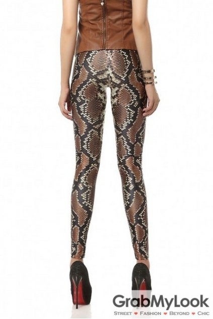 Snake Wild Animal Exotic Prints Long Yoga Pants Tights Leggings