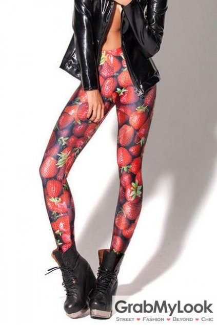 Strawberry Skinny Long Yoga Pants Tights Leggings