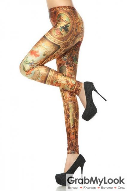 Gothic Antique Renaissance Michaelangelo Yoga Pants Tights Leggings