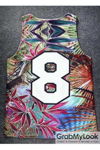 Colorful Forest Eight 8 Net Sleeveless Mens T shirt Vest Sports Tank Top