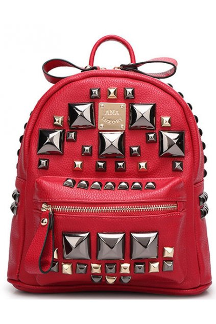 Faux Leather Giant Metal Studs Gothic Punk Rock Funky Backpack