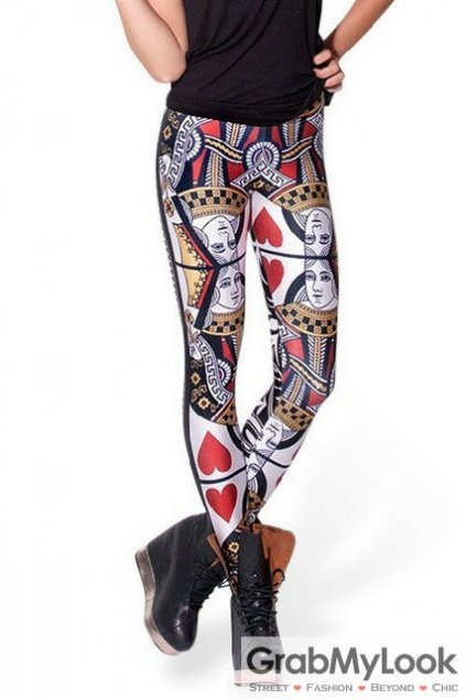 Poker Card Gothic Skinny Long Yoga Pants Tights Leggings
